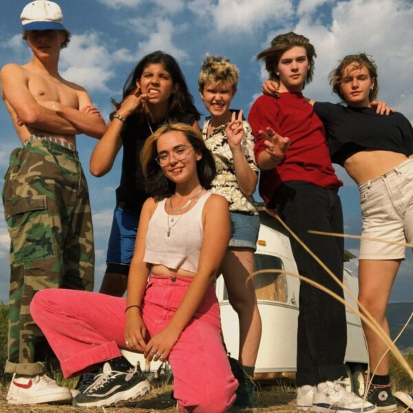 A group of young people looking hip and silly