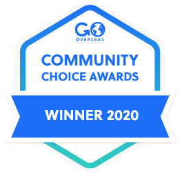 Go Overseas Community Choice Gap Year Award Winner Badge