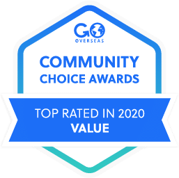 GoOverseas Community Choice Awards Top Rated for Value