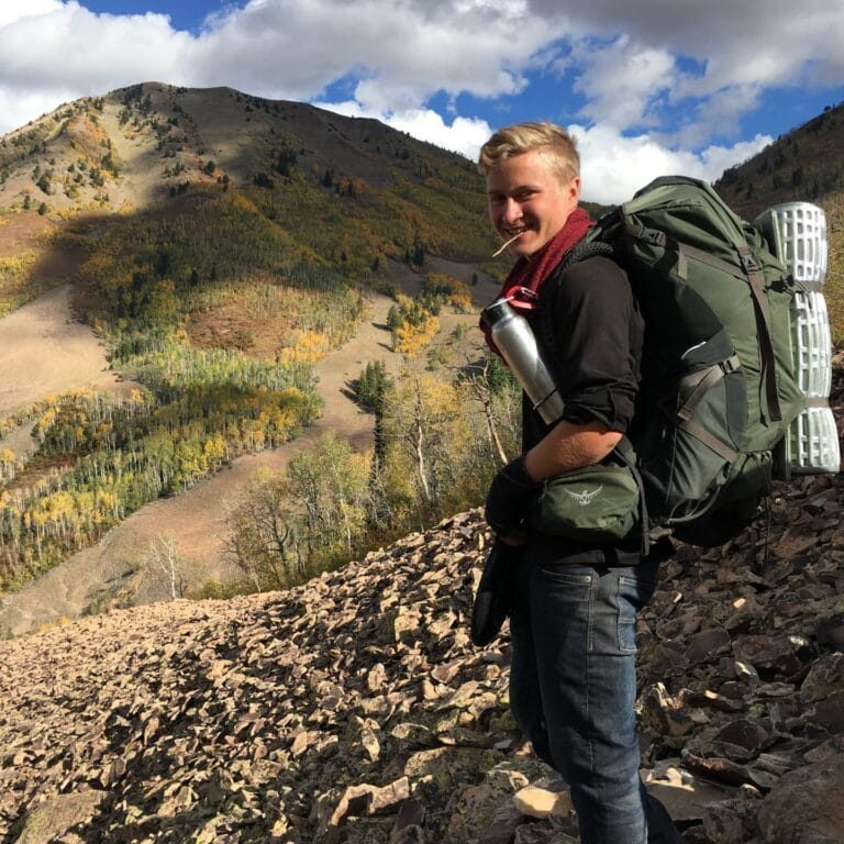 Gap Year student backpacking, Timmy